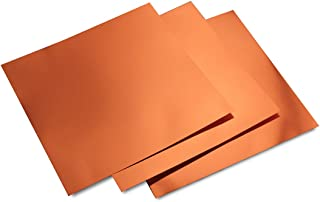 Hygloss Products Metallic Foil Board Sheets - 12 x 12 Inches – Red Copper, 10 Pack