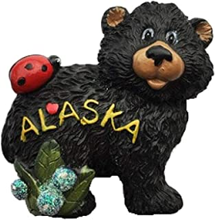 Rancheng 3D Fridge Sticker American Alaska Bear Refrigerator Sticker Landscape Fridge Magnets Home Decoration Travel Souvenirs