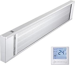 HOTT T- Calentador de Pared eléctrico, radiador de Panel infrarrojo de Baja energía - Ultra Delgado - Termostato Digital programable - Montable en la Pared (Soporte de Pared Gratuito Incluido)