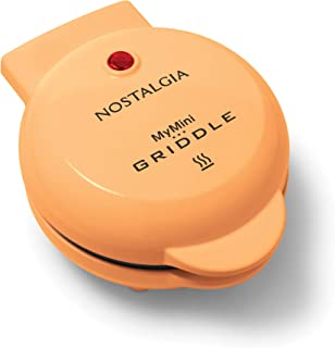 Nostalgia MGD5OR MyMini Personal Electric Griddle, Eggs, Omelets, Pancakes Breakfast Sandwiches, Quesadillas, Cookies, Orange