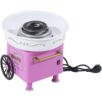 Gadgy ® Maquina de Algodon de Azucar | Retro Cotton Candy Machine | Usar Azúcar Regular de Caramelo Duro Sin Azúcar | 500W Rojo: Amazon.es: Hogar