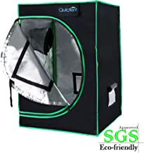 Quictent SGS Approved Eco-Friendly Reflective Mylar Hydroponic Grow Tent with Heavy Duty Anti-Burst Zipper and Waterproof Floor Tray for Indoor Plant Growing (24