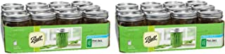 Ball 16 Oz. Wide Mouth Pint 12 Pieces Jars (2 Pack) Made in USA