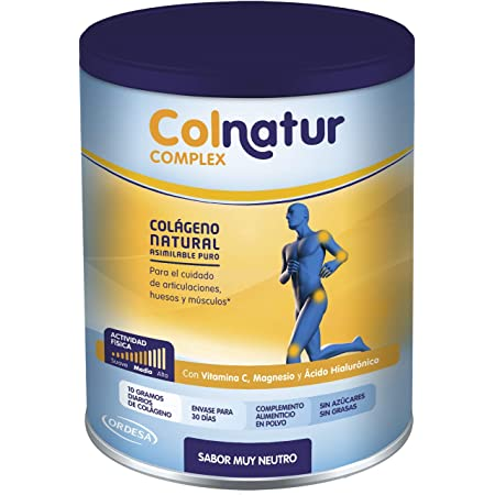 Colnatur Complex - Colágeno Natural Para Músculos y Articulaciones, Vitamina C, Magnesio y Ácido Hialurónico, Sabor Neutro, 330 Gramos
