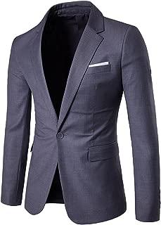 YIMANIE Men's Blazer Slim Fit Casual Suit Coat One/Two Button Business Lapel Suit Jacket Sports Coat