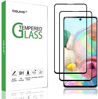 (2-Pack) Beukei For Samsung (Galaxy A71) Screen Protector Tempered Glass,Full Screen Coverage, Anti Scratch, Bubble Free