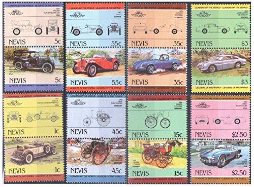 Autovetture Automobili francobolli per collezionisti/Nevis Auto serie 100/1985/8 se-tenant coppie/MNH