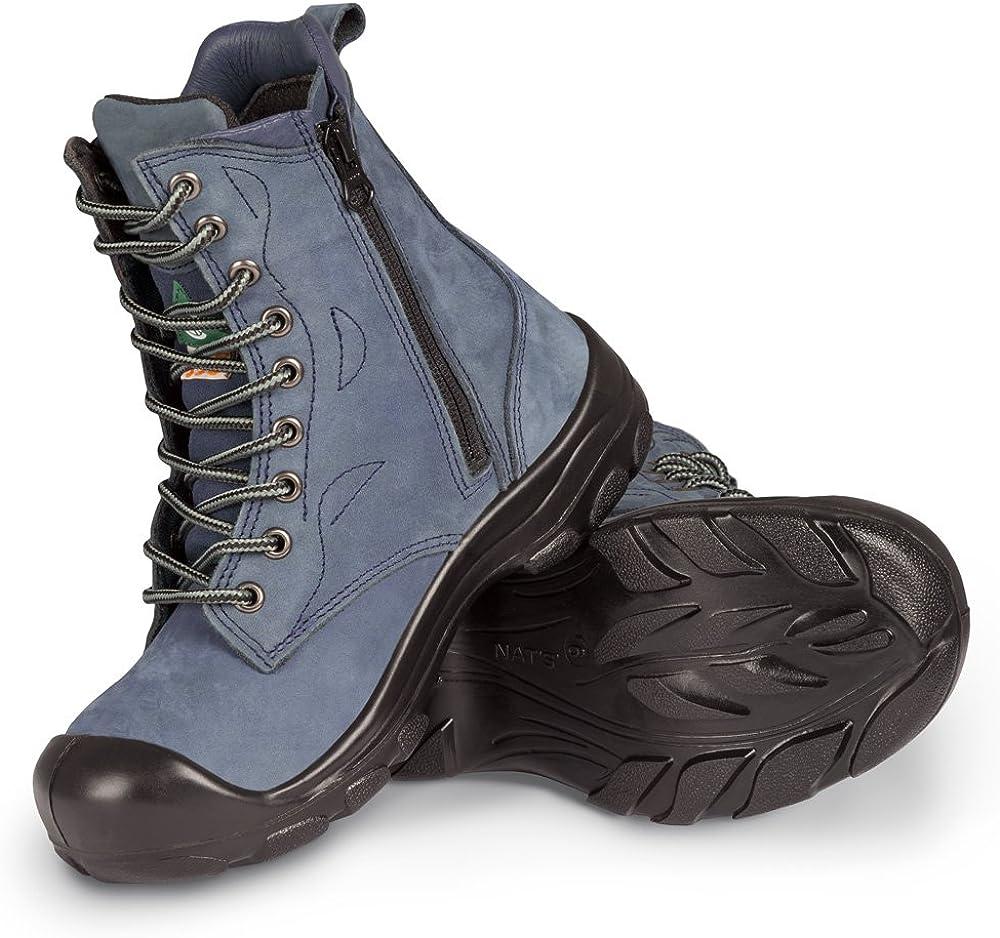 P&F Workwear Women's Steel Toe Work Boots | Marine | 8