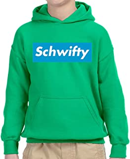 858 - Youth Hoodie Schwifty Supreme Rick Morty Parody Logo Unisex Pullover Sweatshirt