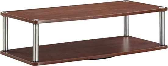 Convenience Concepts Designs2Go 2-Tier TV Swivel Board for Flat Panel TV's Up to 32-Inch or 60-Pounds, Cherry
