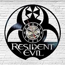 Resident Evil vinyl record clock retro 3D record clock handmade hollow blackhome decoration clock