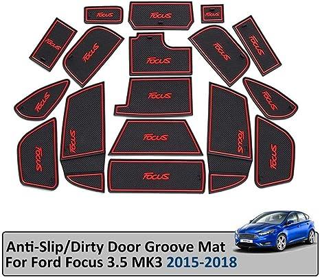 Syjy Shop Auto Tür Slot Pad Gummimatten Nur For Ford Focus 3 3 5 Mk3 St Rs 2015 2018 Anti Rutsch Innentür Pad Dekorationen Set Ersatz Farbe Blau Küche Haushalt