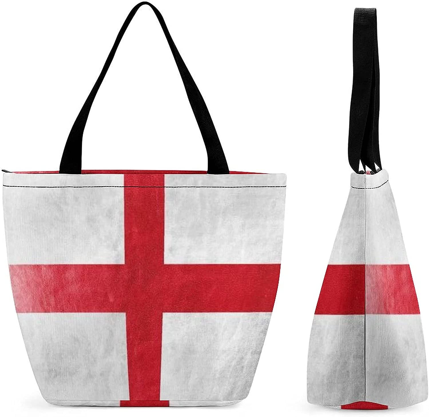 England Flag Ranking TOP18 Painted On Leather Texture Womens' shipfree Capacity Large R