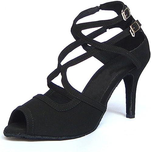 Wohommes Chaussures De Danse Latine,Fond Mou Daim Chaussures De Danse talons hauts Tango Salsa Chaussures De Danse Sociale