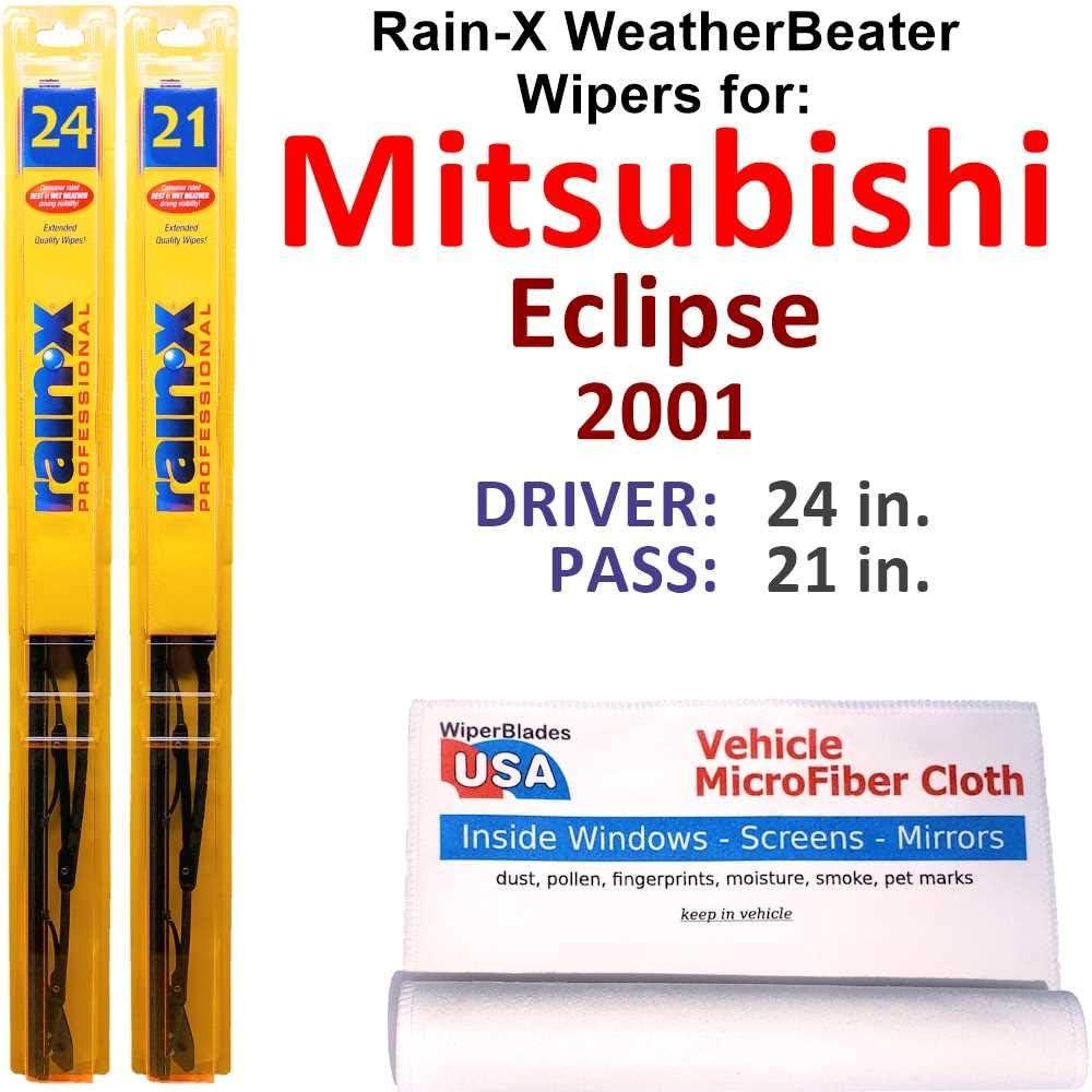 Rain-X Cheap bargain WeatherBeater Wiper Max 79% OFF Blades for 2001 Se Eclipse Mitsubishi