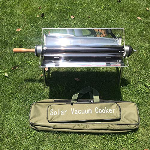 Hmcozy Outdoor Solar Grill, beweglicher Solarkocher, Solar Herd, Solar-Ofen, Kraftstoff Freies Barbecue, Must-Have für Picknick, Camping, Reisen