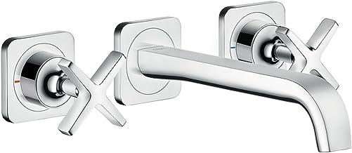 AXOR Kraan Citterio E 3-gaats wastafelarmatuur inbouw, uitloop lengte 220mm, wandmontage, chroom