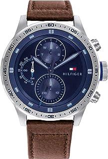 Tommy Hilfiger Men's Analogue Quartz Watch with Leather Calfskin Strap 1791807