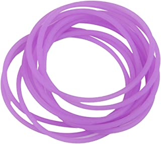 F Fityle 10pcs Gummy Silicone Wristbands Bracelets Bands Rubber Gummies Bangles Wristbands