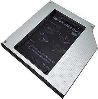 12,7 mm óptico Bay 2 nd SATA HDD disco duro Caddy bandeja de memoria conector PATA aluminio 2 nd HDD SATA a IDE caso bahía óptica