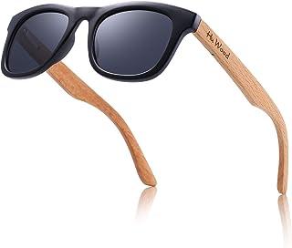 نظارة شمسية مستقطبة للأطفال من خشب الزان من هو وود - للأطفال من سن 4 حتى 8 سنوات للاولاد والبنات