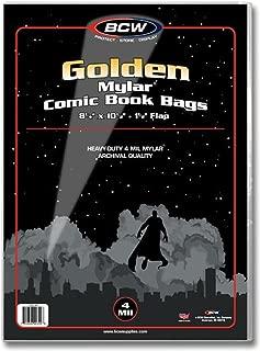 BCW 1-GOL-M4 Golden Comic Mylar Bags 4 Mil