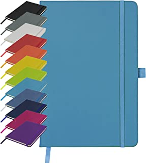 A5 Notebook New Lined Hardback Journal Notepad Note Book Notes Diary Pad (Teal)