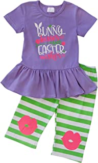Girls & Toddler Easter Tunic Tank Top Ruffle Pants Boutique Outfit
