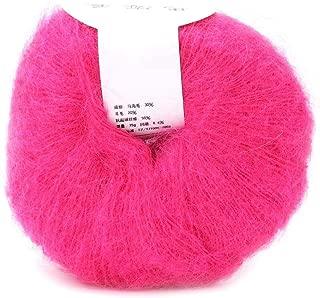 Popular Soft Mohair Knitting Angora Wool Yarn for DIY Knitting (with a Crochet)(Peach Pink)