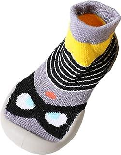 comprar comparacion Calcetines Zapatos Bebé, LANSKIRT Calcetines Primeros Pasos Bebé Suave Suela de Goma Antideslizante Botines Piso de Goma Z...