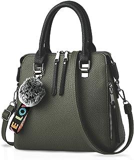 NICOLE & DORIS Frau Mode-Handtaschen Tragetaschen Klassisch Damen Körper überqueren Schultertasche Kuriertasche Leder Grosse Kapazität