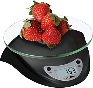 Taylor Precision Products Digital Kitchen Scale, 6.6 Pound Capacity, Black