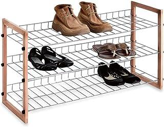 3 الطبقة الحذاء المعادن رف حذاء حذاء مجلس الوزراء الأحذية الجرف التخزين منظم للمداعدة الرواق خزانة