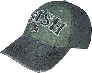 Irish Shamrock Baseball Cap, One Size Fits All Mens Hat Green/Grey