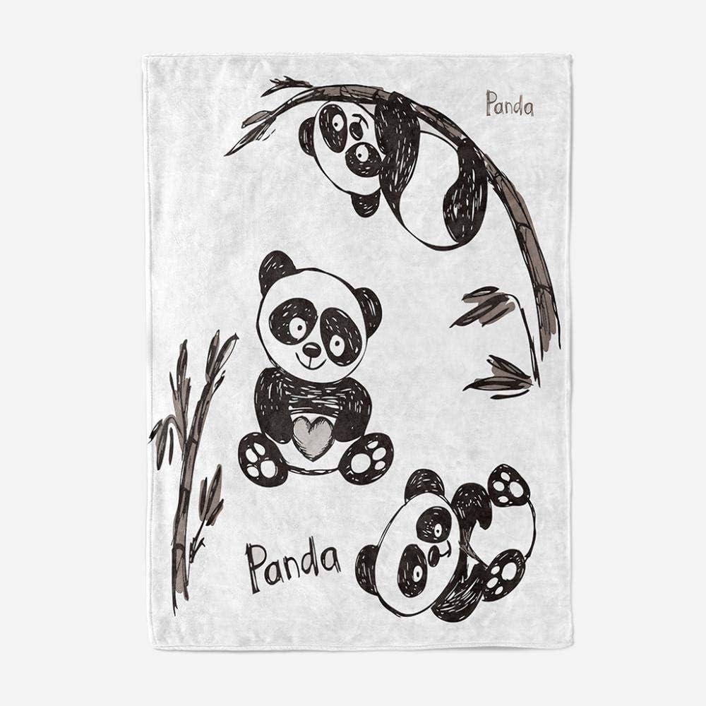 GGYDKA Couverture pour Enfants Panda Microfibre Plaid Polaire Impression Numérique 3D Super Douce Enfants Flanelle Couverture180Cmx240Cm 150cmx180cm