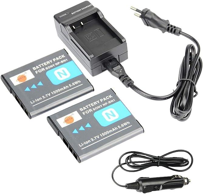 DSTE 2-Pieza Repuesto Batería y DC95E Viaje Cargador kit para Sony NP-BN1Cyber-shot DSC-W510W515PS DSC-H9W500DSC-W520DSC-W530DSC-W550DSC-W560DSC-W570DSC-W580DSC-W610DSC-W620DSC-W650