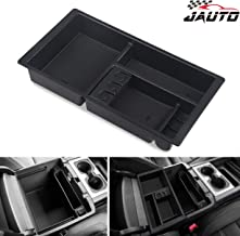 JAUTO Center Console Organizer for Chevy/Chevrolet Tahoe Suburban Silverado GMC Sierra Yukon 2015-2018 ABS Tray Armrest Box Replaces 22817343 Full Console w/Bucket Seats Only