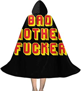 Bad Mother Fucker Pulp Fiction Jules Wallet, Trucker Cap Unisex Kids Hooded Cloak Cape Halloween Xmas Party Decoration Role Cosplay Costumes Black