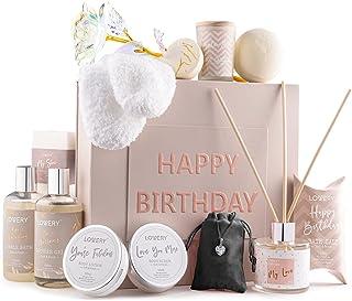 Birthday Gift Basket - Bath and Spa Gift Set for Women - Luxury Birthday Spa Gift Box with Vit E- Rich Bath Essentials, Di...