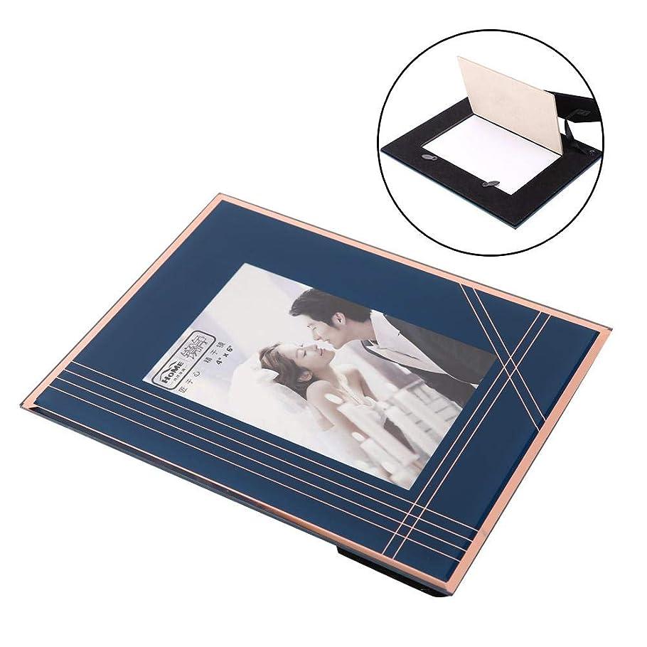 ほうき移住する失効強化ガラスフォトフレーム 銅メッキ長方形 フォトポスター写真フレーム ホーム テーブル装飾 お祝い プレゼント ギフト