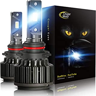 Cougar Motor 9005 LED Headlight Bulbs, HB3 6000K Cool White All-in-One Conversion Kit