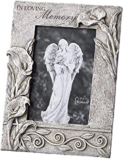Roman Flower Bereavement Collect, 10.25 Inches Height Photo Frame - Hold 5x7