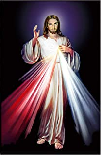5D Diamond Painting Jesus, Kaliosy by Number Kits Paint with Diamonds Arts Craft Home Living Room Decor 12x16 inch K1-552...