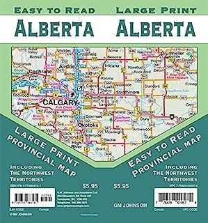 Alberta Large Print / Northwest Territories, Canada Provincial Road Map