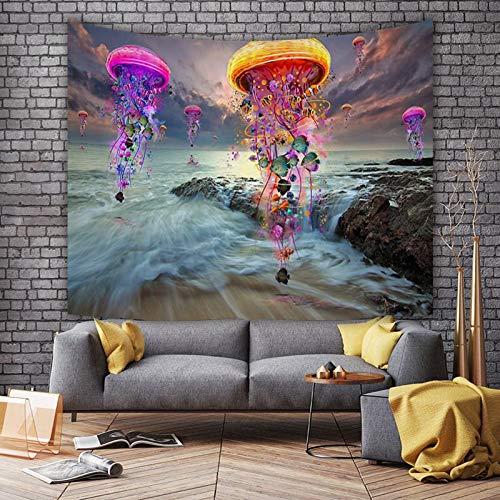 WERT Tela de Pared Pintura Medusa Bosque Serie Tapiz Impresión de poliéster Arte de la Pared Fondo mágico Tapiz de Tela A4 130x150cm