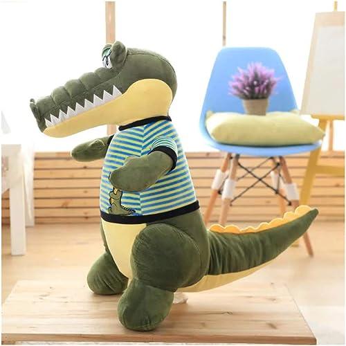 IIWOJ Peluche Douce poupée, Coussin de Coussin Crocodile Artificiel, Anniversaire Cadeau lit poupée,88cm