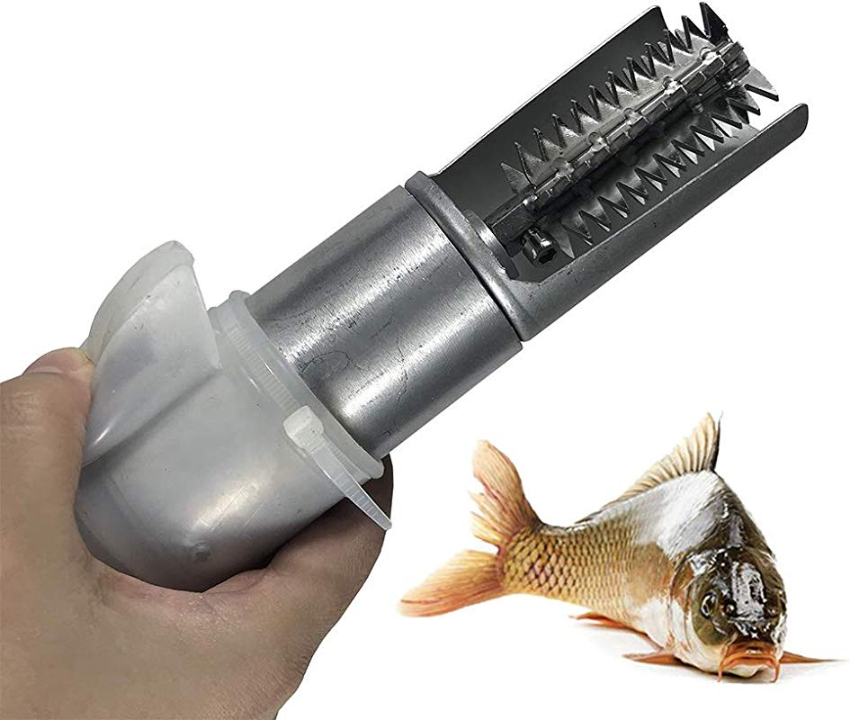 Heavy Duty Fish Scapler Scale Remove Waterproof Processing Cleaning Commercial