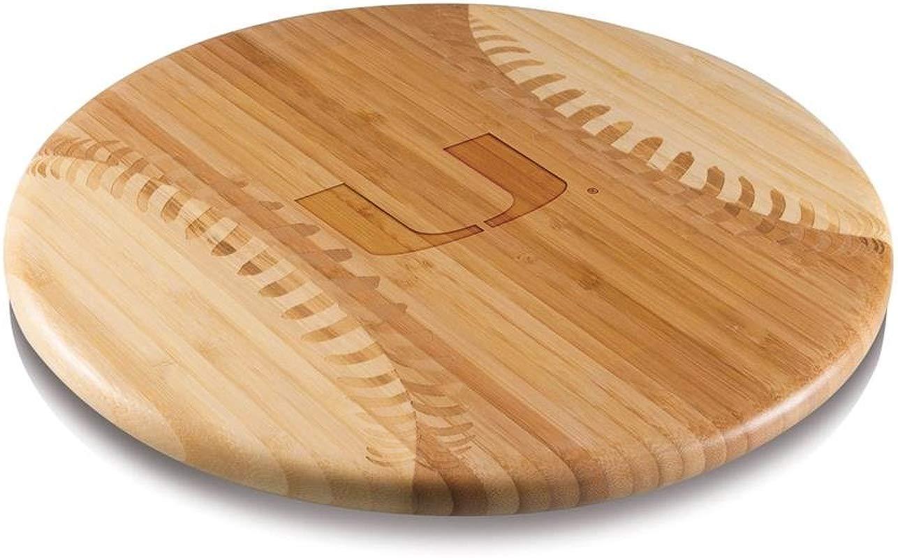NCAA Miami Hurricanes Homerun Bamboo Cutting Board With Team Logo 12 Inch
