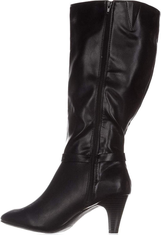 Karen Scott Womens Hulah Almond Toe Knee High Fashion Boots, Black, Size 5.0