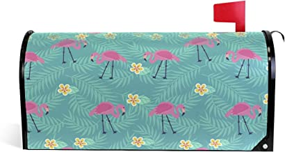 Flamingo Flamenco Zomer Patroon Magnetische Brievenbus Cover Tuin Home Decor Oversized 25,5 x 18 Inch